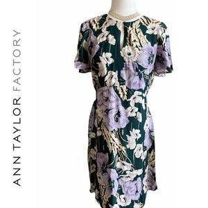 Ann Taylor Factory Floral Flare Casual Dress